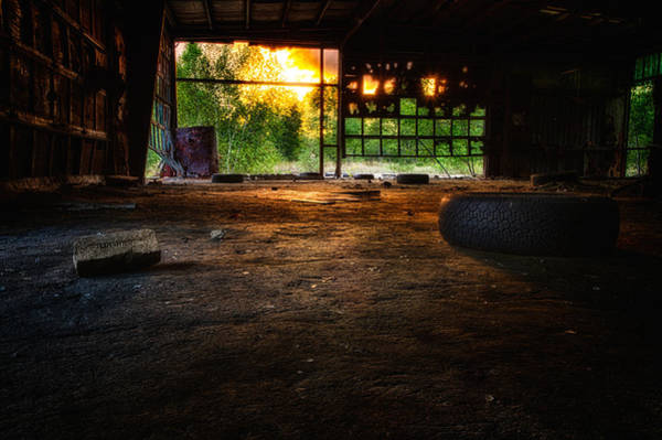 Photograph - Looking Out From The Decay.  by Jeff Sinon
