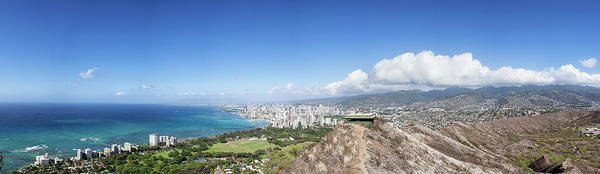 Wall Art - Photograph - Looking Out Over Waikiki From Diamond by Ian Ludwig