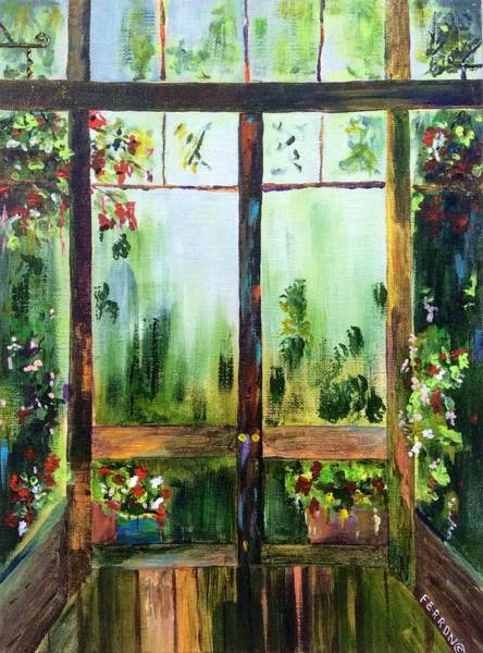Art Print featuring the painting Looking Out by Patti Ferron