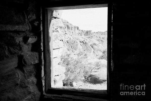 Civilian Conservation Corps Wall Art - Photograph - Looking Out Through Window From Interior Of Historic Stone Cabin Built By The Civilian Conservation  by Joe Fox