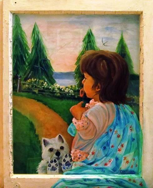 Fencepost Painting - Looking Outward by Carol Allen Anfinsen