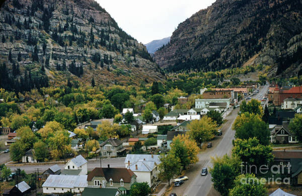 Photograph - Looking Over Ouray From The Sutton Mine Trail Circa 1955 by California Views Archives Mr Pat Hathaway Archives