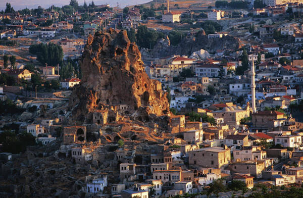 Nevsehir Photograph - Looking Over Town And Its Kale Castle by Jean-bernard Carillet
