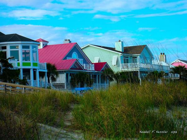 Photograph - Looking Through The Grass At Isle Of Palms by Kendall Kessler