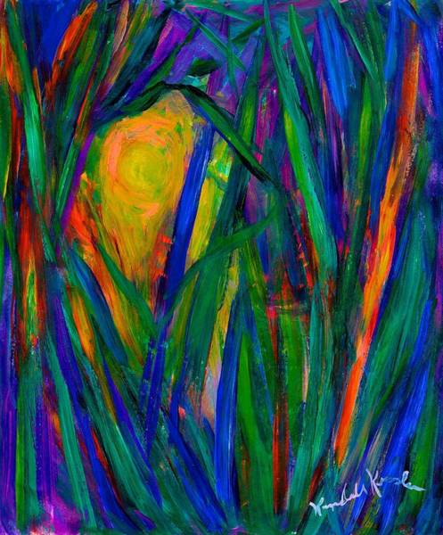 Painting - Looking Through The Grass by Kendall Kessler