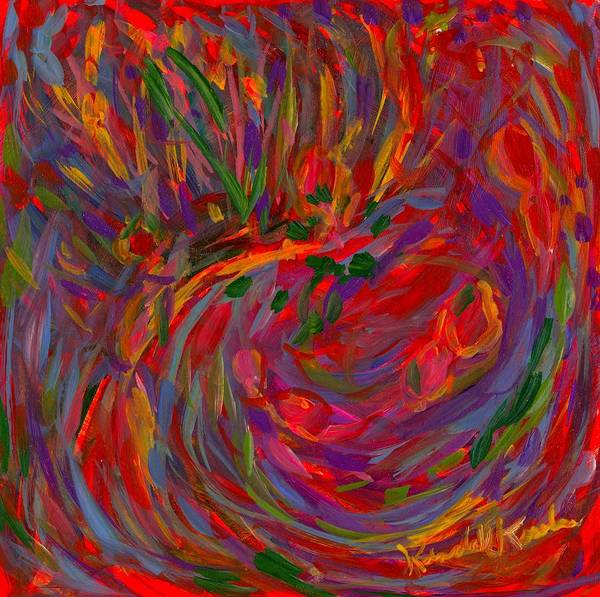 Painting - Looking Through The Red by Kendall Kessler