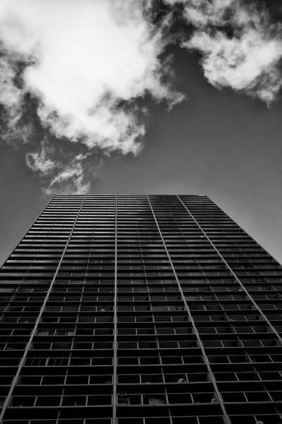 Wall Art - Photograph - Looking Up At A Tall Building by Ian Ludwig