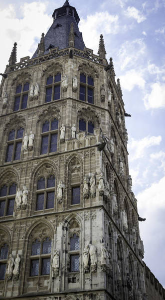 Glockenspiel Photograph - Looking Up At City Hall Cologne Germany by Teresa Mucha