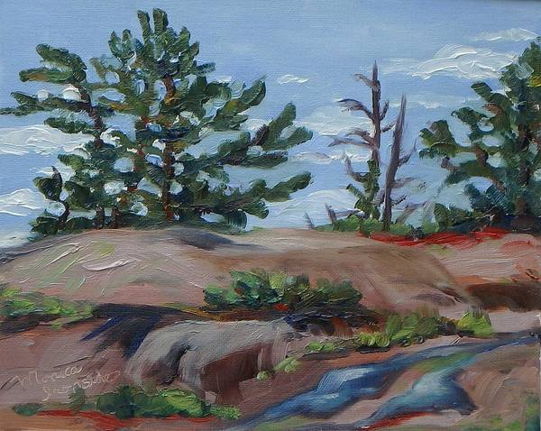 Painting - Looking Up At Thumb Point by Monica Ironside