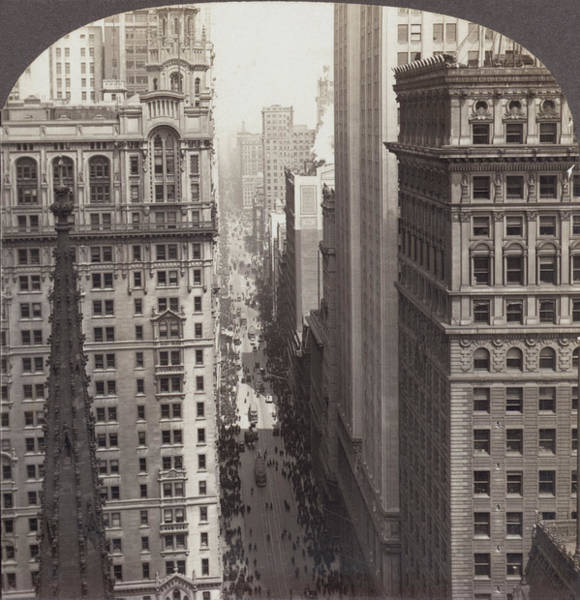 In Law Photograph - Looking Up Broadway In Nyc by Underwood Archives