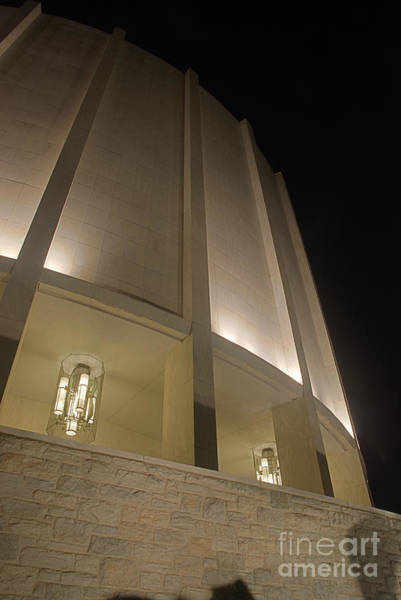 Photograph - Looking Up Founders Hall At Night by Mark Dodd