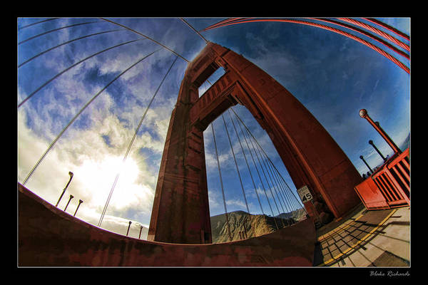 Photograph - looking Up Golden Gate Bridge by Blake Richards