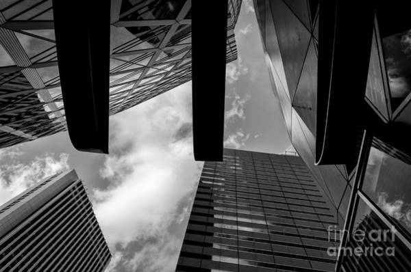 Wall Art - Photograph - Looking Up In Downtown Tokyo by Dean Harte