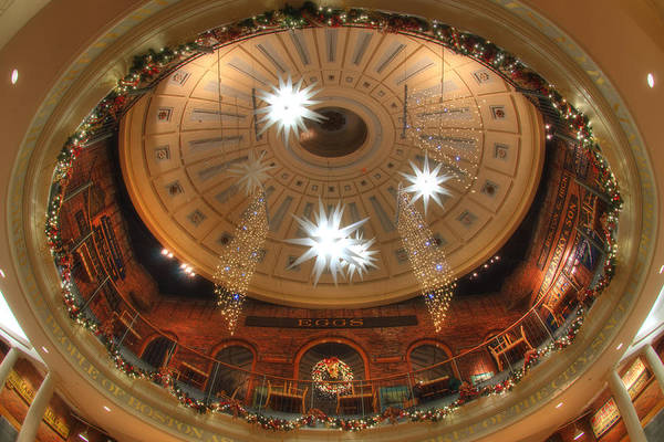 Photograph - Looking Up - Quincy Market Boston by Joann Vitali