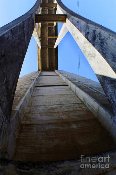 Photograph - Looking Up Under Bixby Creek Bridge Big Sur California 1999 by California Views Archives Mr Pat Hathaway Archives