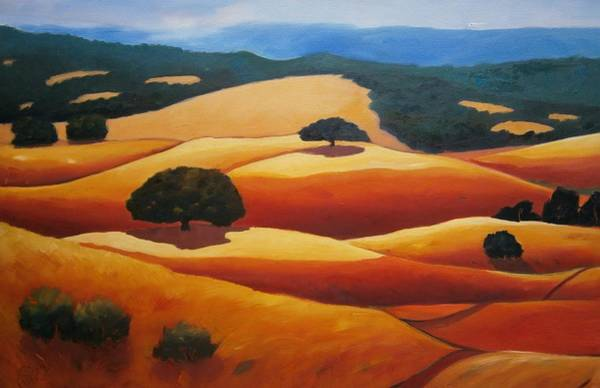Silicon Valley Wall Art - Painting - Looking West by Gary Coleman