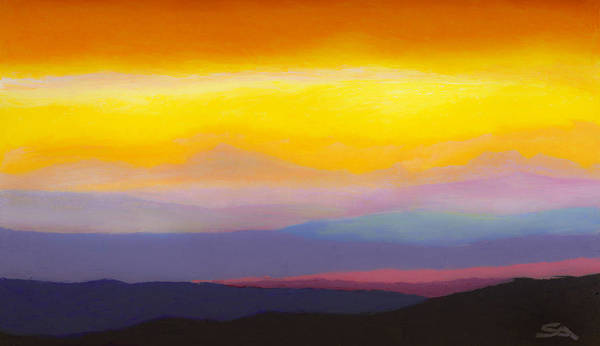 Wall Art - Painting - Looking West Panorama by Stephen Anderson