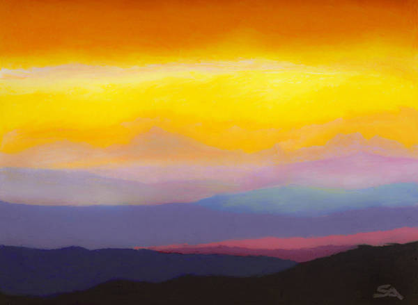 Wall Art - Painting - Looking West by Stephen Anderson