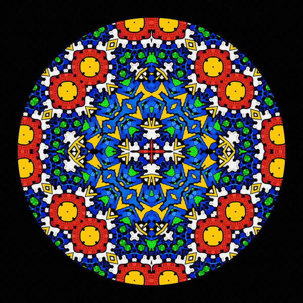African Tribal Digital Art - Looking Within - Mandala by Isabella Howard