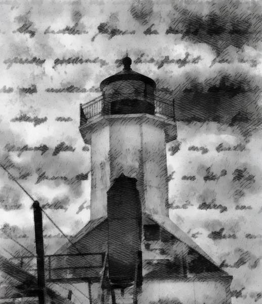 Wall Art - Painting - Lookout Lighthouse by Dan Sproul