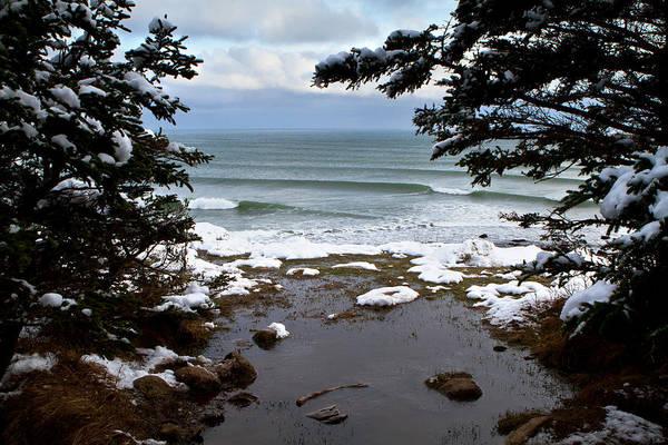 Wall Art - Photograph - Snowy Winter Ocean Waves by Trevor Nicodemo