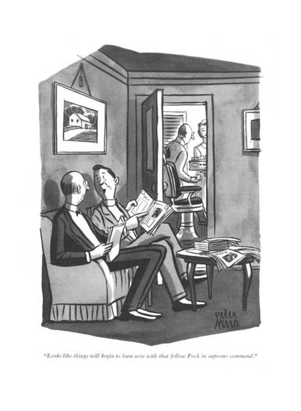 Drawing - Looks Like Things Will Begin To Hum Now With That by Peter Arno