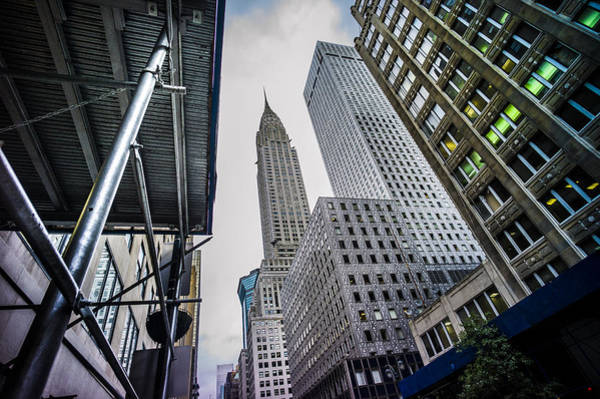 Wall Art - Photograph - Looming Chrysler by Chris Halford