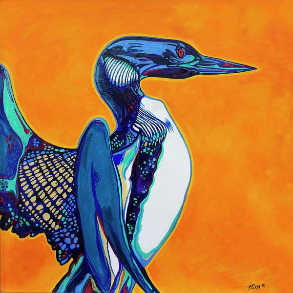 Loon Painting - Loon by Derrick Higgins