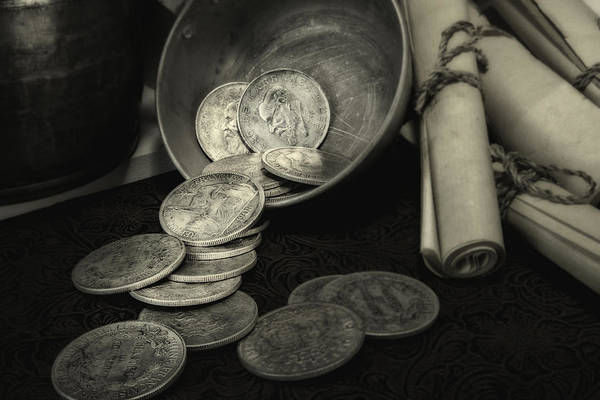 Change Photograph - Loose Change Still Life by Tom Mc Nemar