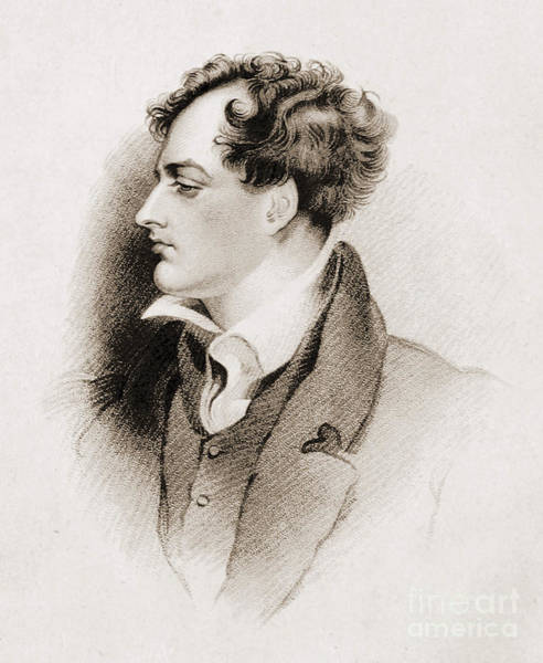 Photograph - Lord Byron English Romantic Poet by British Library
