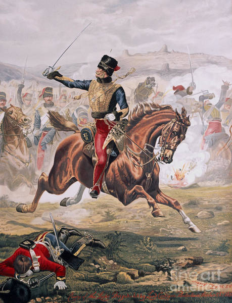 Steed Painting - Lord Cardigan Leading The Charge Of The Light Brigade At The Battle Of Balaklava by Henry A Payne