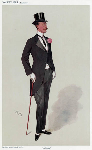 """Wall Art - Drawing - Lord Chesterfield  """"a Dandy"""" by Mary Evans Picture Library"""