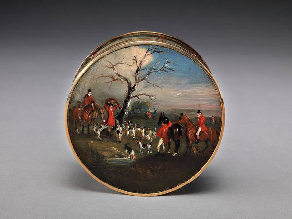 Lid Painting - Lord Edward Thynne's Snuff Box, Decorated With Foxhunting by Litz Collection
