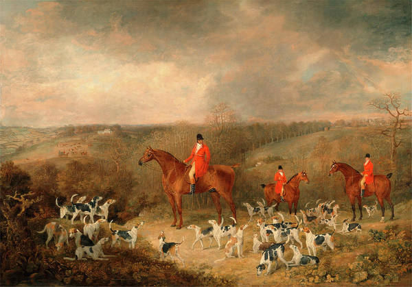 Boot Hill Painting - Lord Glamis And His Staghounds, Dean Wolstenholme by Litz Collection