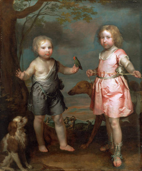 Leash Painting - Lord John Hay And Charles, Master Of Yester Later 3rd by Litz Collection