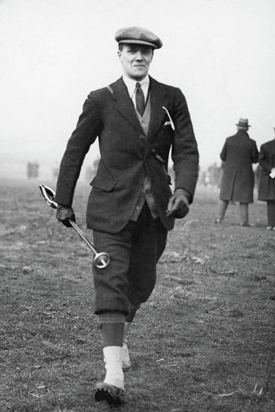 Western Society Photograph - Lord Molyneux Walking Across A Field by  Acme