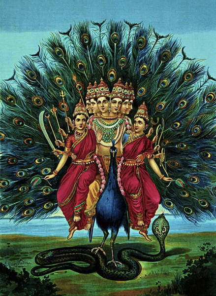 Digital Art - Lord Murugan by Raja Ravi Varma
