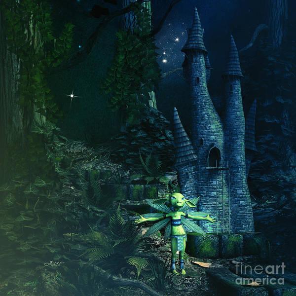 Digital Art - Lord Of The Castle by Jutta Maria Pusl