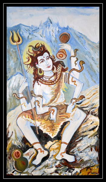 Wall Art - Painting - Lord Siva-the Creator by Anand Swaroop Manchiraju