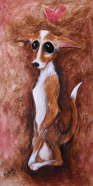 Wall Art - Painting - Loretta Chihuahua Big Eyes  by Patricia Lintner