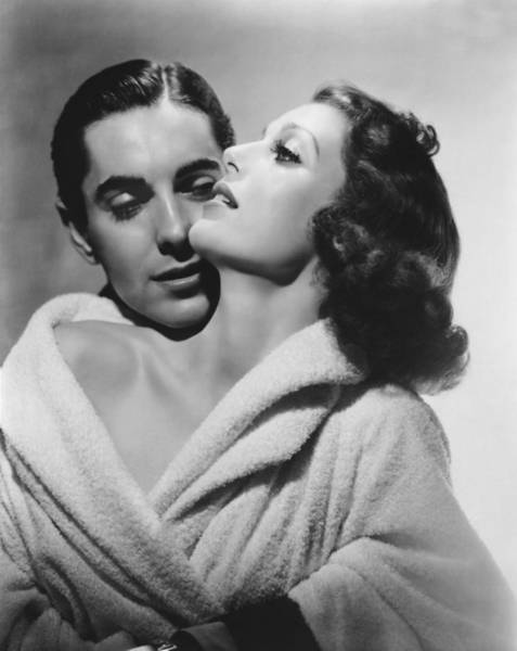 Photograph - Loretta Young And Tyrone Power by Underwood Archives