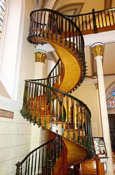 Loretto Chapel Photograph - Loretto Chapel Staircase by Robert Meyers-Lussier