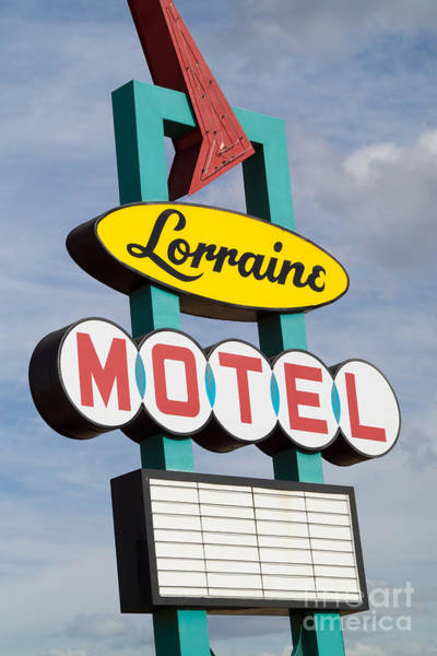 Photograph - Lorraine Motel Sign I by Clarence Holmes