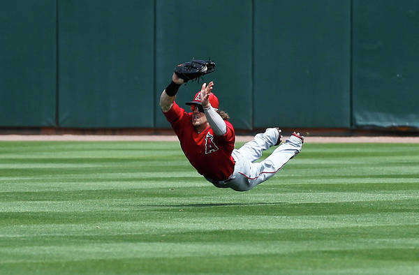 Photograph - Los Angeles Angels Of Anaheim V Oakland by Sarah Crabill