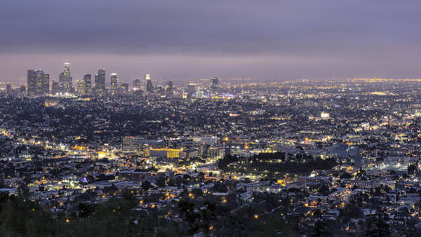 Photograph - Los Angeles At Night From The Griffith Park Observatory by Belinda Greb