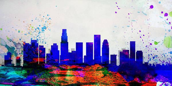 California Digital Art - Los Angeles City Skyline by Naxart Studio