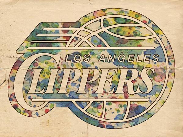 Painting - Los Angeles Clippers Poster Art by Florian Rodarte