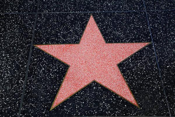 Boulevard Photograph - Los Angeles, Hollywood, Blank Star by David Wall
