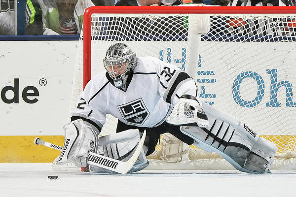Los Angeles Kings Photograph - Los Angeles Kings V Columbus Blue by Jamie Sabau