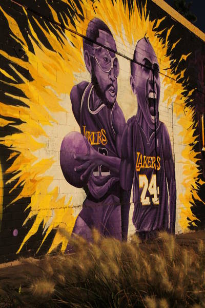 Fantasy Wall Art - Photograph - Los Angeles Lakers Mural by Tony Castle